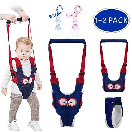 Arnés de Seguridad Bebe,GVOO Arneses Tirantes,Andador Chaleco Ajustable para Aprender Andar Niños 4 en 1 funcional con dos Cadenas para Chupetes