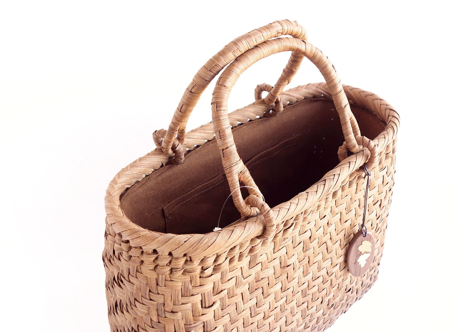 Yamako Mountain Grape Basket Handbag with Inner Cloth 88046 by Yamako (Image #5)