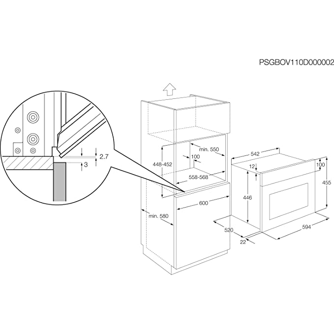 Aeg Ke7415022m Compact Multifunction Electric Built In Single Oven