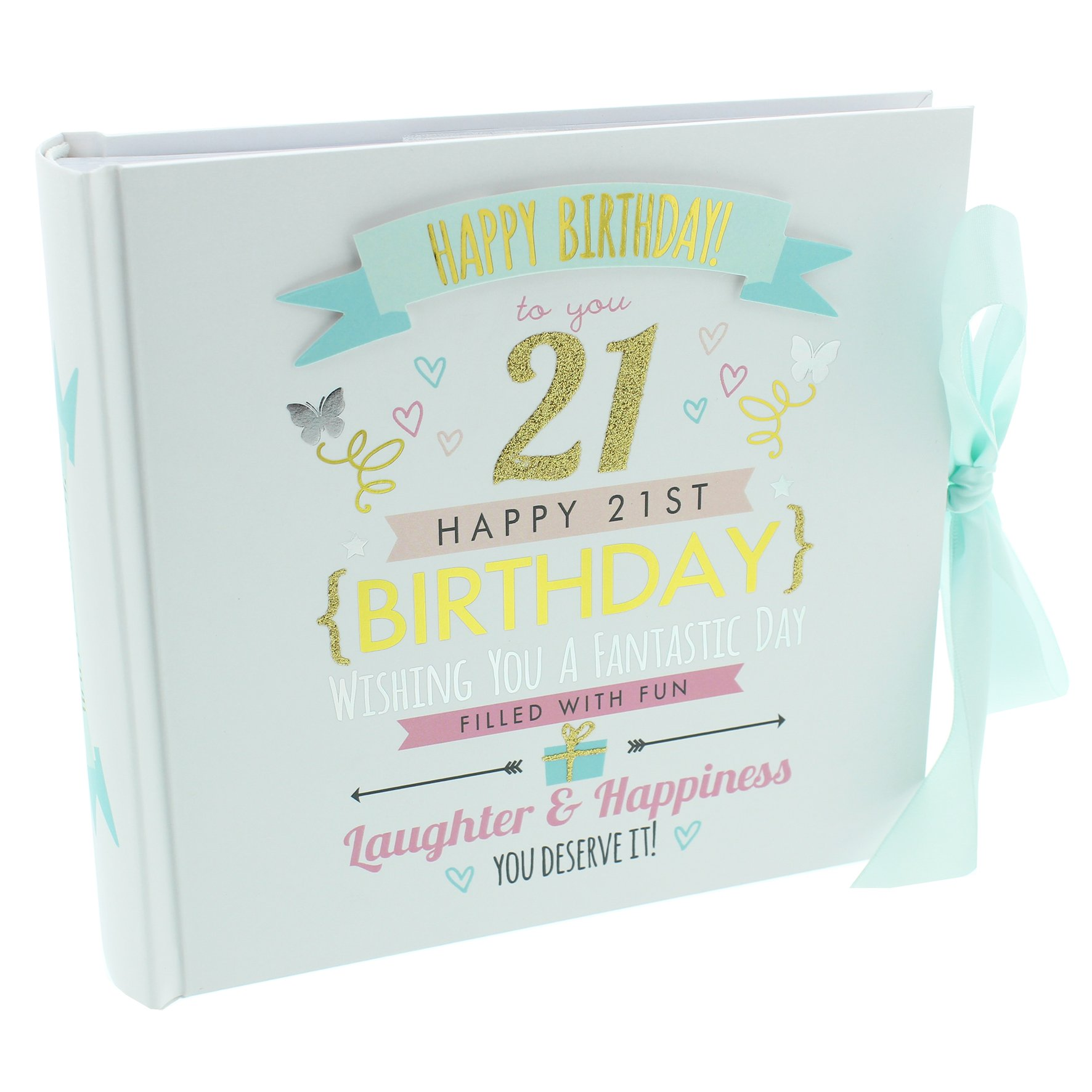 Oaktree Gifts 21st Birthday Girl Photo Album Hold 4 x 6