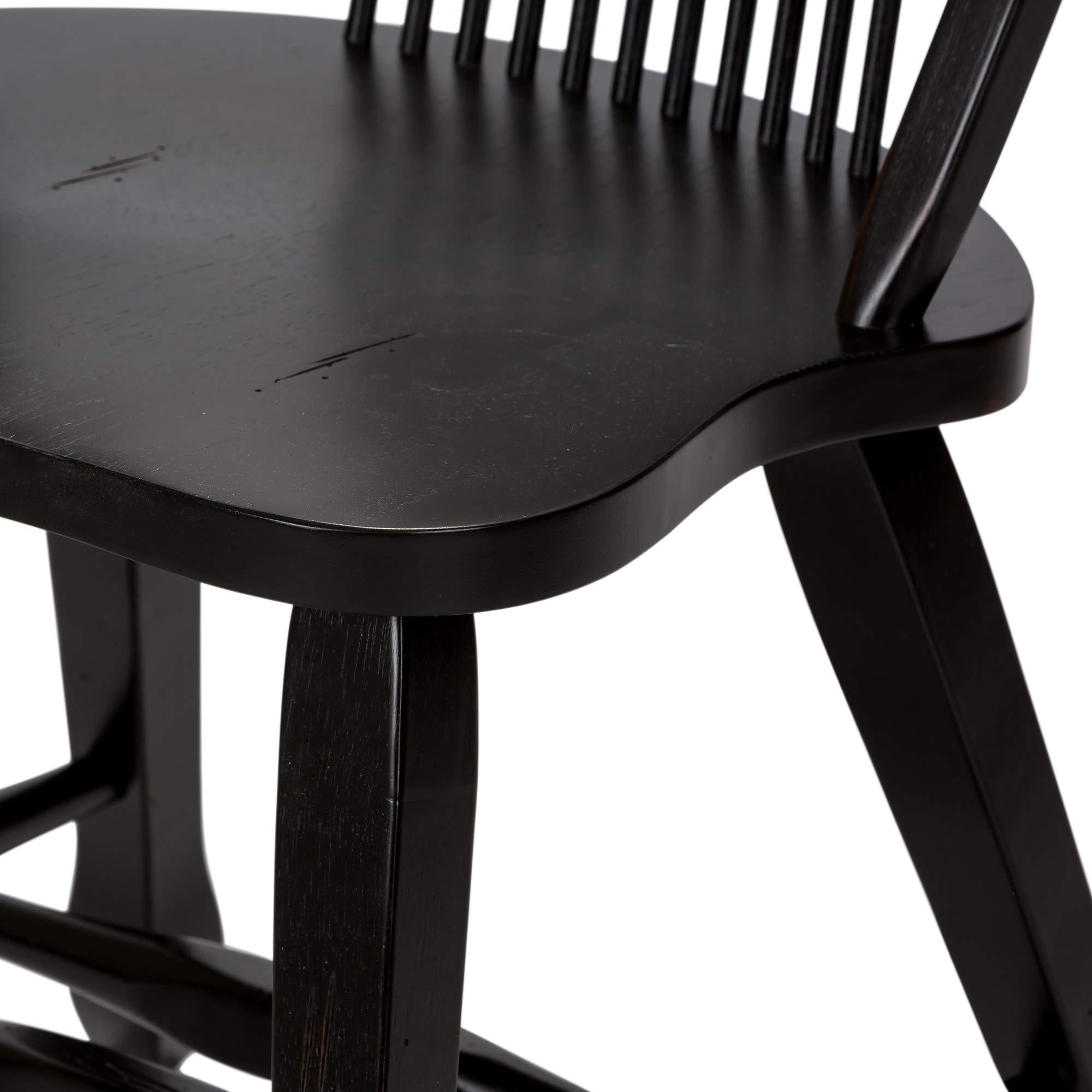 Liberty Furniture Industries 17-C4032 Sheaf Back Side Chair, Black by Liberty Furniture INDUSTRIES