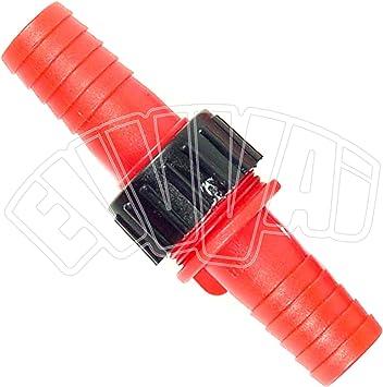Conector recto de 25 mm de nailon para manguera de agua de riego de jardín: Amazon.es: Bricolaje y herramientas