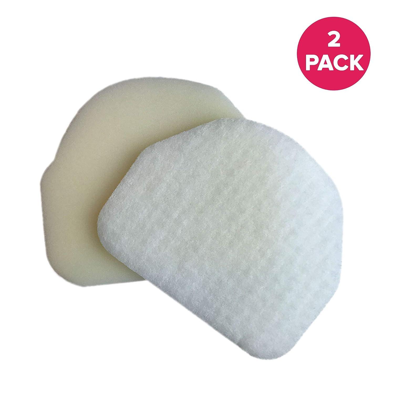 Crucial Vacuum Foam Filter Replacement - Compatible with Shark Foam, Felt Filters - Part # XFF450 - Models NV200, NV200C, NV200Q, NV201, NV202, NV202C, NV450, NV451, NV472 - (2 Pack)
