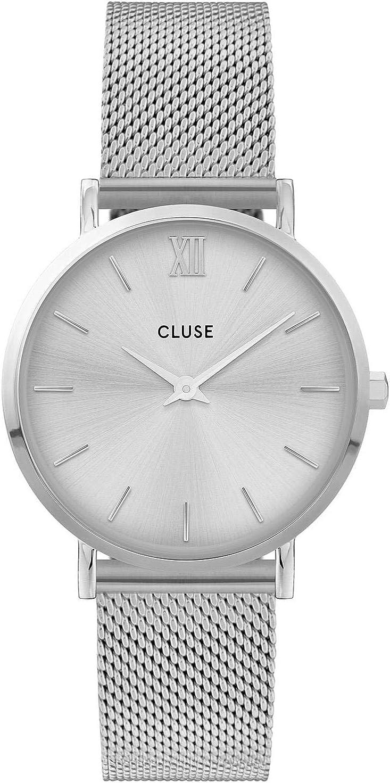 CLUSE Reloj Analógico para Mujer de Cuarzo con Correa en Acero Inoxidable CW0101203011