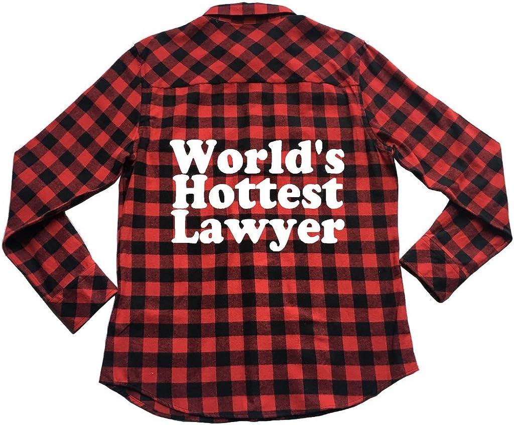 Apple Orange Gifts Worlds Hottest Lawyer Unisex Plaid Flannel Shirt Law Humor