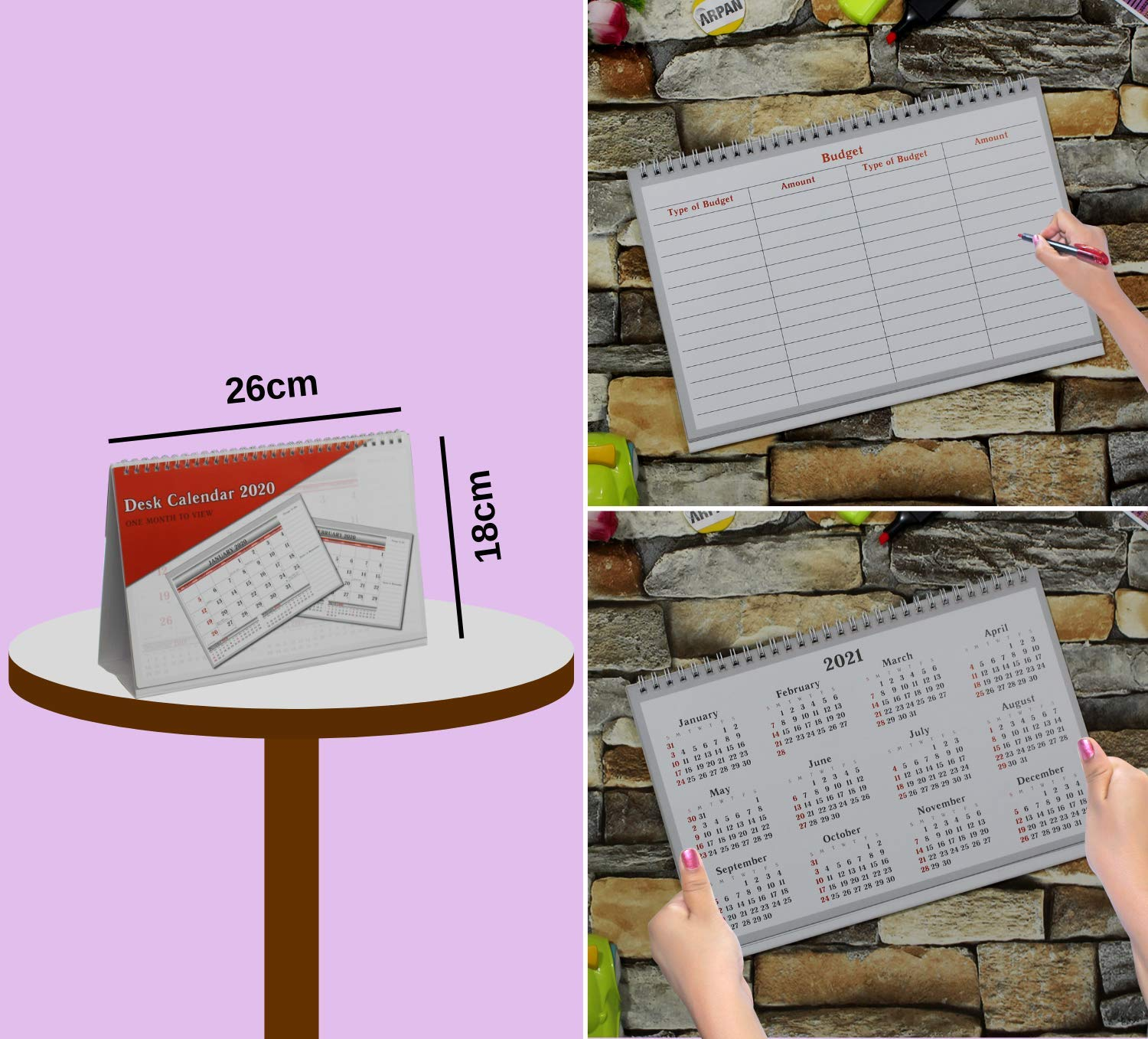 2021 One Month To View Uk Stand Alone Desk Office Table Calendar Planner By Arpan 2021 Desk Top Buy Online In China At Desertcart