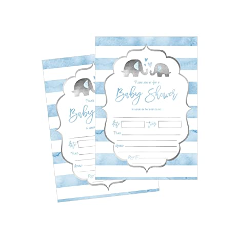 Amazon 50 fill in baby shower invitations baby shower 50 fill in baby shower invitations baby shower invitations elephant jungle baby shower filmwisefo Choice Image