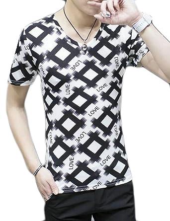 17088aba5 KLJR-Men Hipster Hip Hop T-Shirts Hawaiian Floral Print Crewneck Tee Shirt    Amazon.com