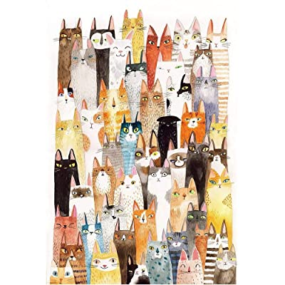 Jqchw The Cats Jigsaw Puzzle Cartoon Pattern Puzzle 1000 Pieces Wooden Puzzle Adult Entertainment Puzzles Kids Educational Toys Decompression Intelligence Toys Home Puzzle Game Jigsaw Puzzle: Toys & Games