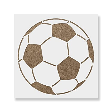 amazon com soccer ball stencil template for walls and crafts