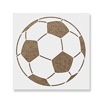 image regarding Printable Soccer Ball Template named Football Ball Stencil Template for Partitions and Crafts - Reusable Stencils for Portray within Very low Huge Dimensions