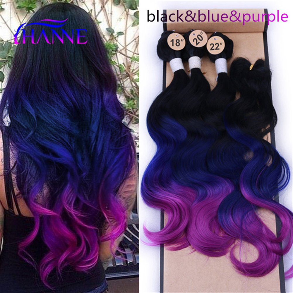 Amazon Hanne Ombre Color Hair Synthetic Body Wave Hair 1820