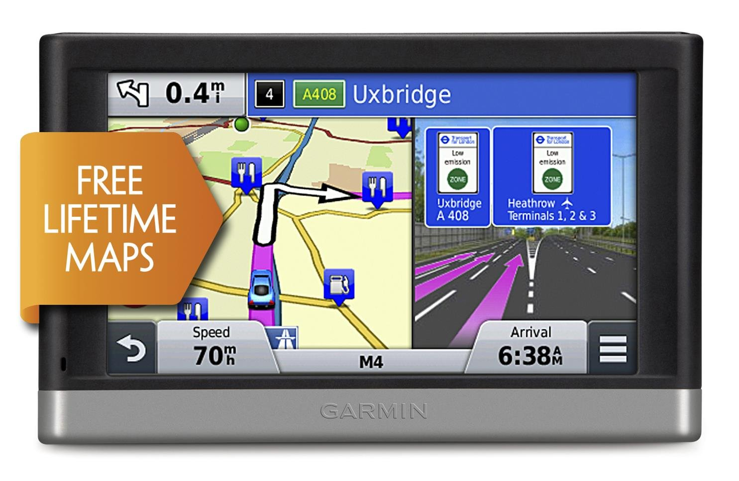 garmin nuvi lm  inch satellite navigation with uk and western europemaps and free lifetime map updates amazoncouk electronics. garmin nuvi lm  inch satellite navigation with uk and