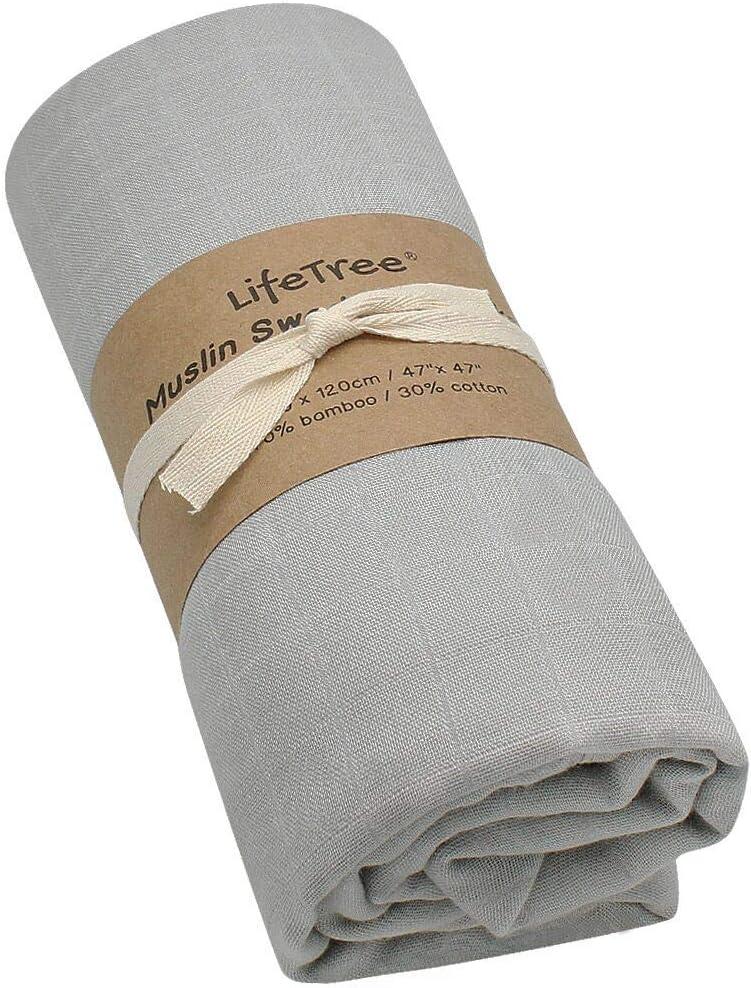120x120 cm LifeTree Couvertures d/'emmaillotage pour B/éb/é Couvertures pour B/éb/é Douce Ultra Couvertures de Mousseline