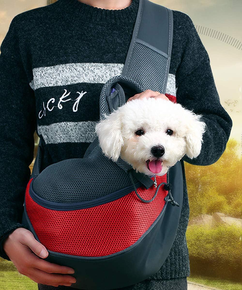 Dog Travel Summer Pet Sling Cat Sling Carrier Chihuahua Bag Cat Sling Red Dog Sling Carrier