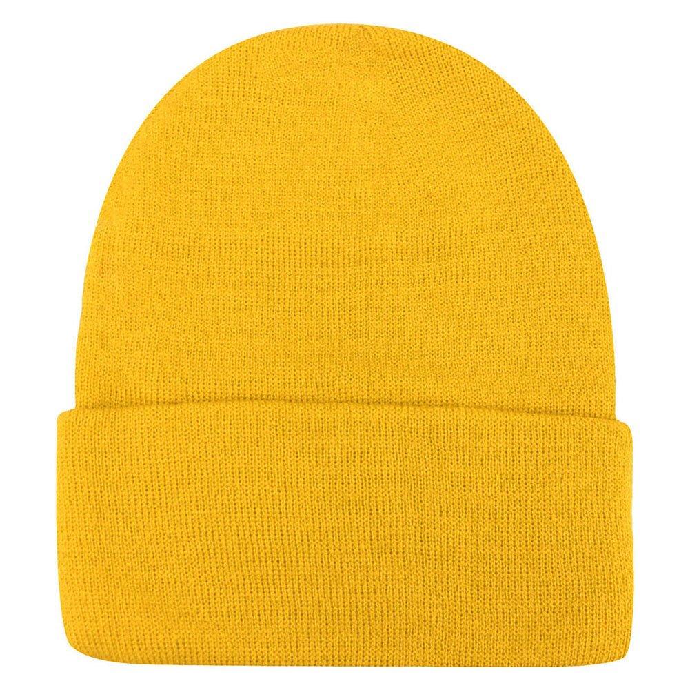 Weixinbuy Unisex Women Warm Plain Beanie Hats Slouchy Cap Yellow