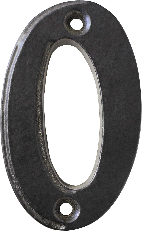 RCH Hardware NO-IR750-70 Iron House Number Black 2.8 Inch