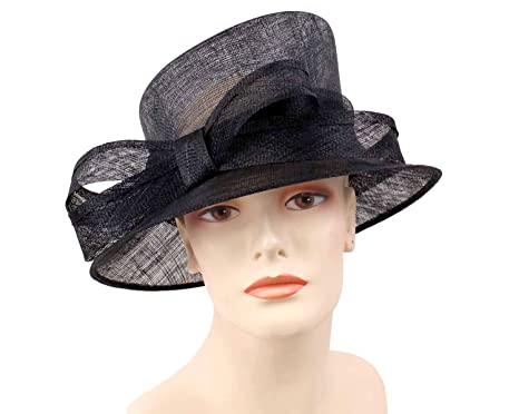 510a8d15bd932 Ms Divine Women s Sinamay Church Derby Dressy Formal Hats  1408 (Black) at  Amazon Women s Clothing store