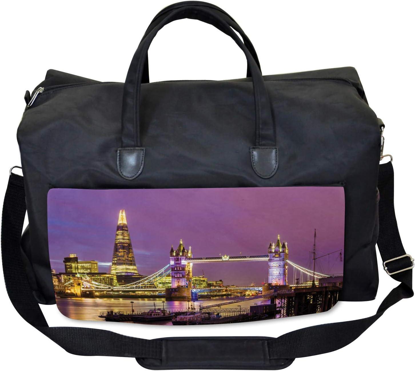 Tower Bridge in London Ambesonne Europe Gym Bag Large Weekender Carry-on