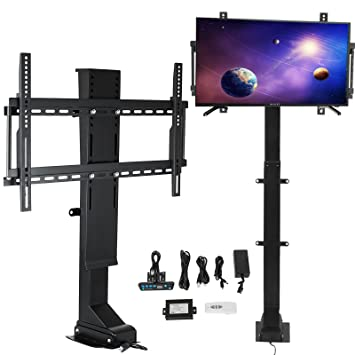 Happybuy Motorized TV Lift Flat TV 1000mm TV Lift Mechanism Auto Lifting  Adjustable Height with Wireless RF Remote Controller for Plasma LCD LED TV