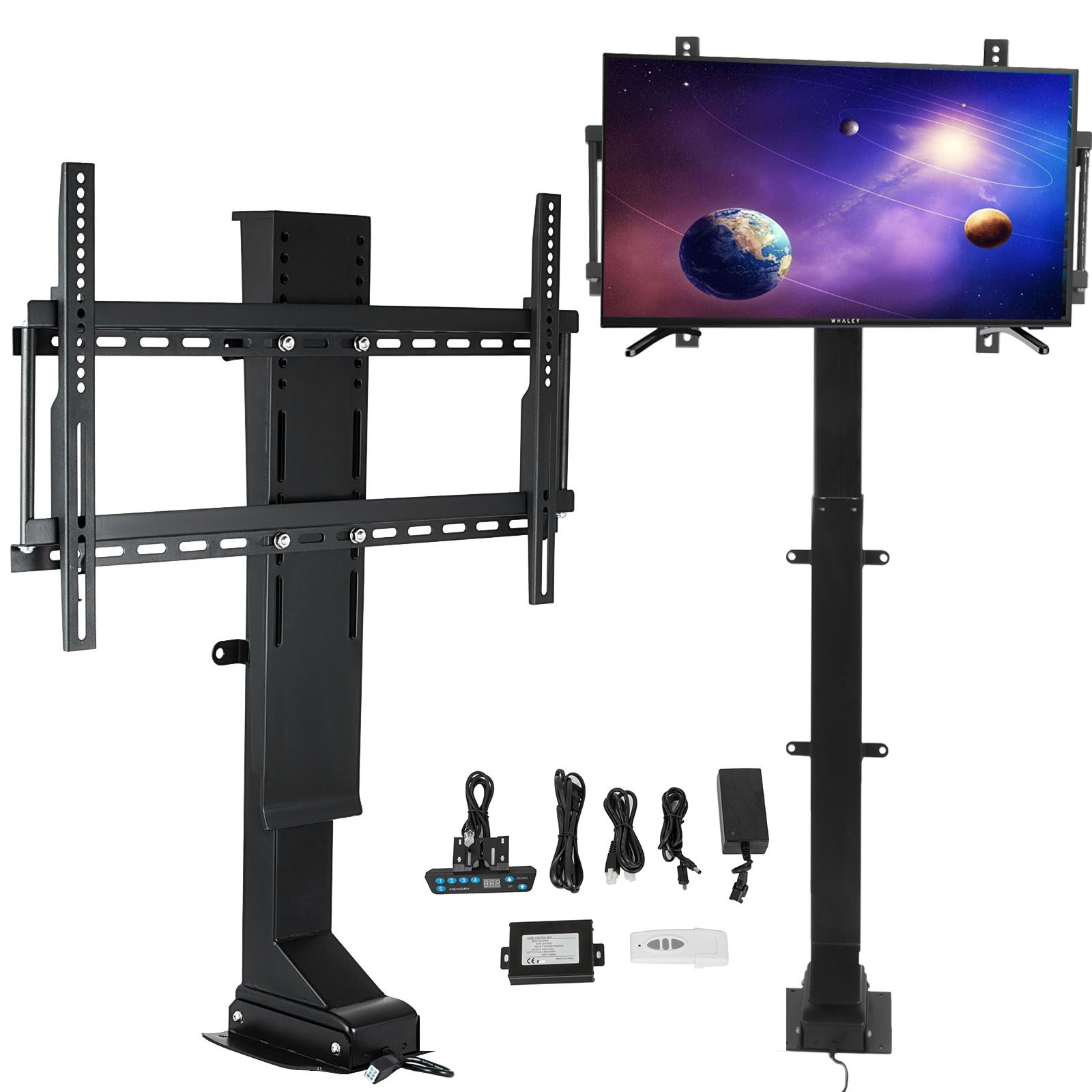 Happybuy Pro Swivel Motorized TV Lift 32''-70'' TV Lift Mechanism 1000mm Lift Mount Auto Lifting Adjustable Height with Remote Controller for Plasma LCD LED TV and Monitors (SHC-340)