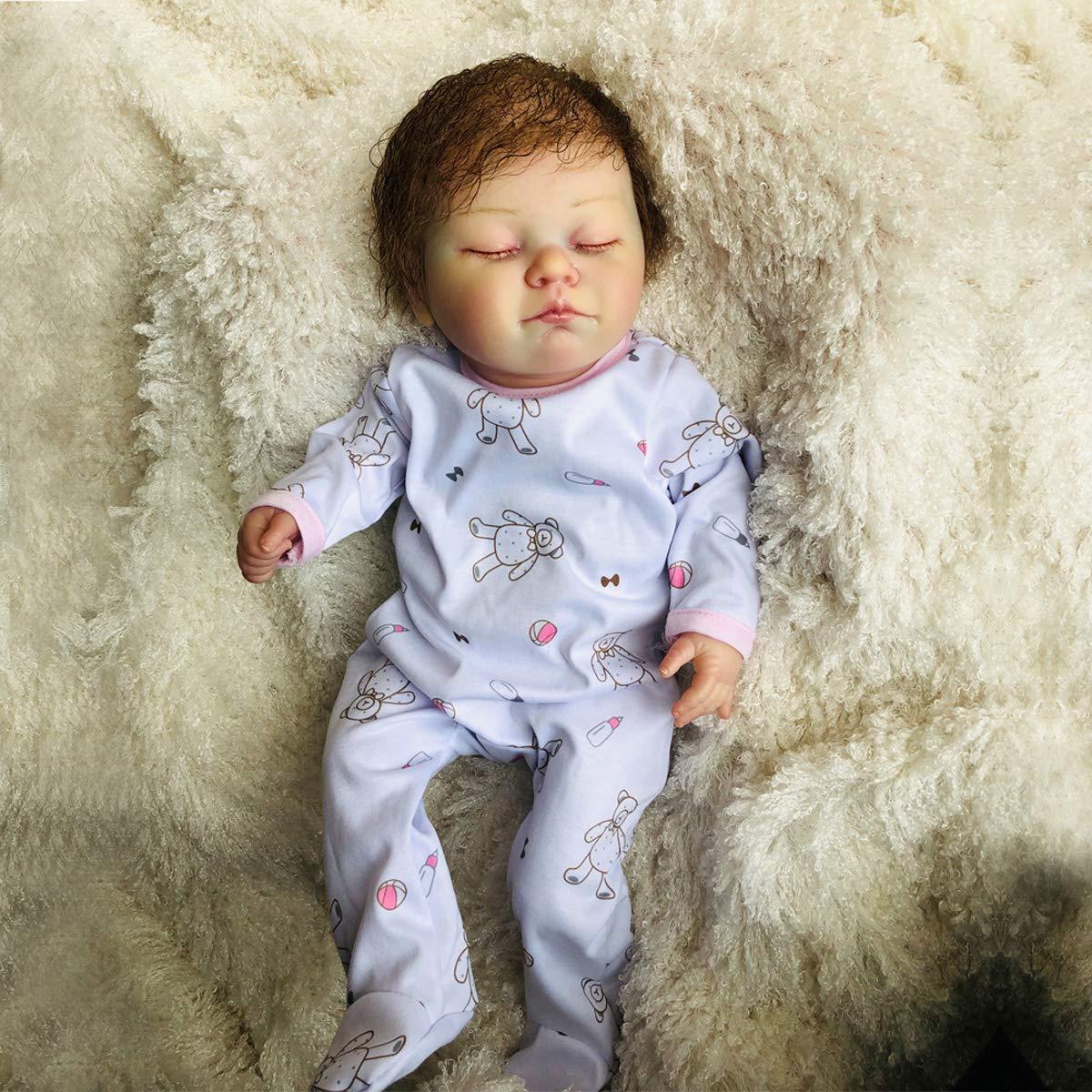 TERABITHIA 20 Zoll Rare Alive wasserdichte schlafende Silikon Reborn Babypuppen