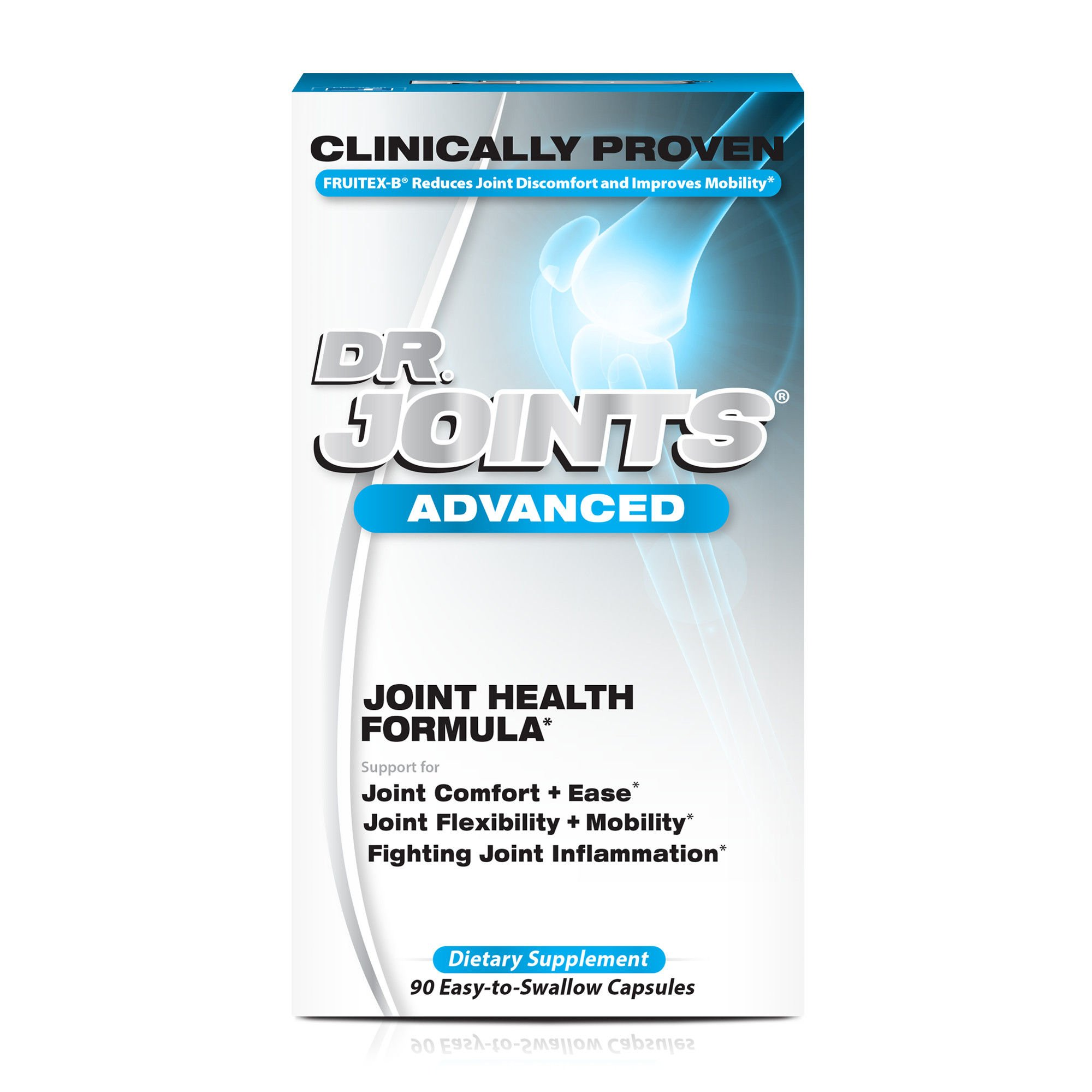 NDS Nutrition Dr. Joints - Advanced Joint Health Formula with FruiteX-B - Dietary Supplement for Improved Mobility and Flexibility - Decrease Joint Inflammation - 90 Capsules by Dr. Joints