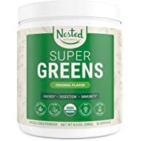 Super Greens | #1 Green Superfood Powder | 100% USDA Organic Non-GMO Vegan Supplement...