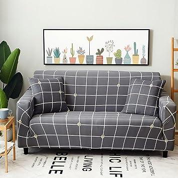 Amazon.com: HMWPB Stretch Sofa Cover Spandex Polyester ...