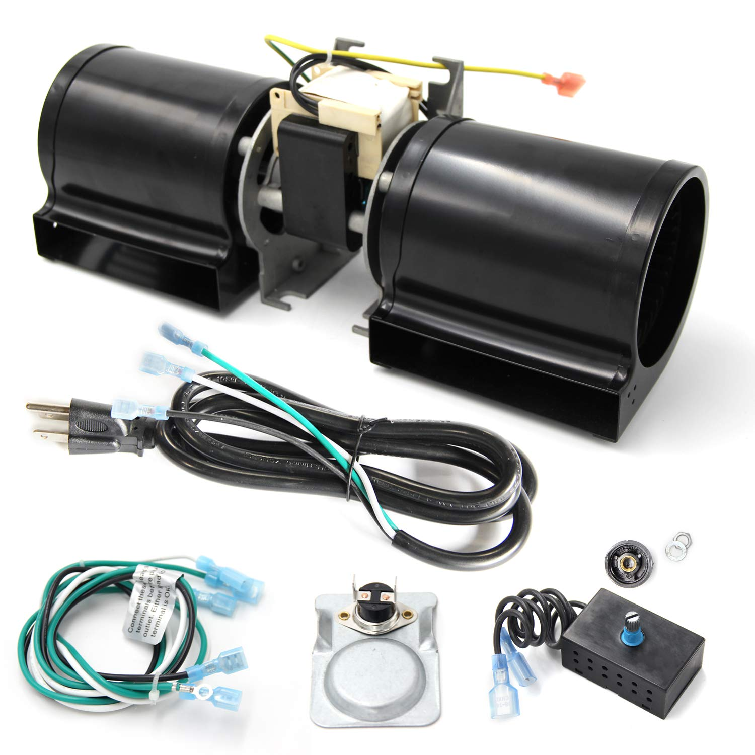 VICOOL GFK-160 GFK-160A Fireplace Blower Kit for Heat N Glo, Hearth and Home, Quadra Fire, Lennox, Superior, Regency, Royal, Jakel, Nordica, Rotom by VICOOL
