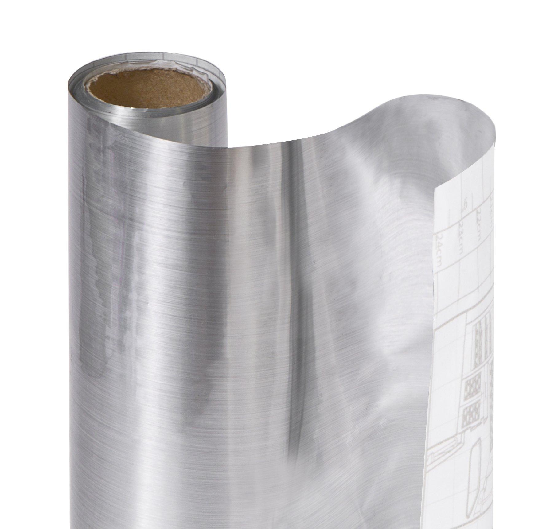 DAZZ 8631071 Stainless Steel Adhesive Metallic Shelf Liner