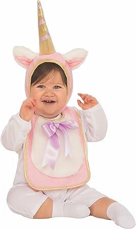 Rubies - Disfraz Babero con sombrero de unicornio para bebé, 6-12 ...
