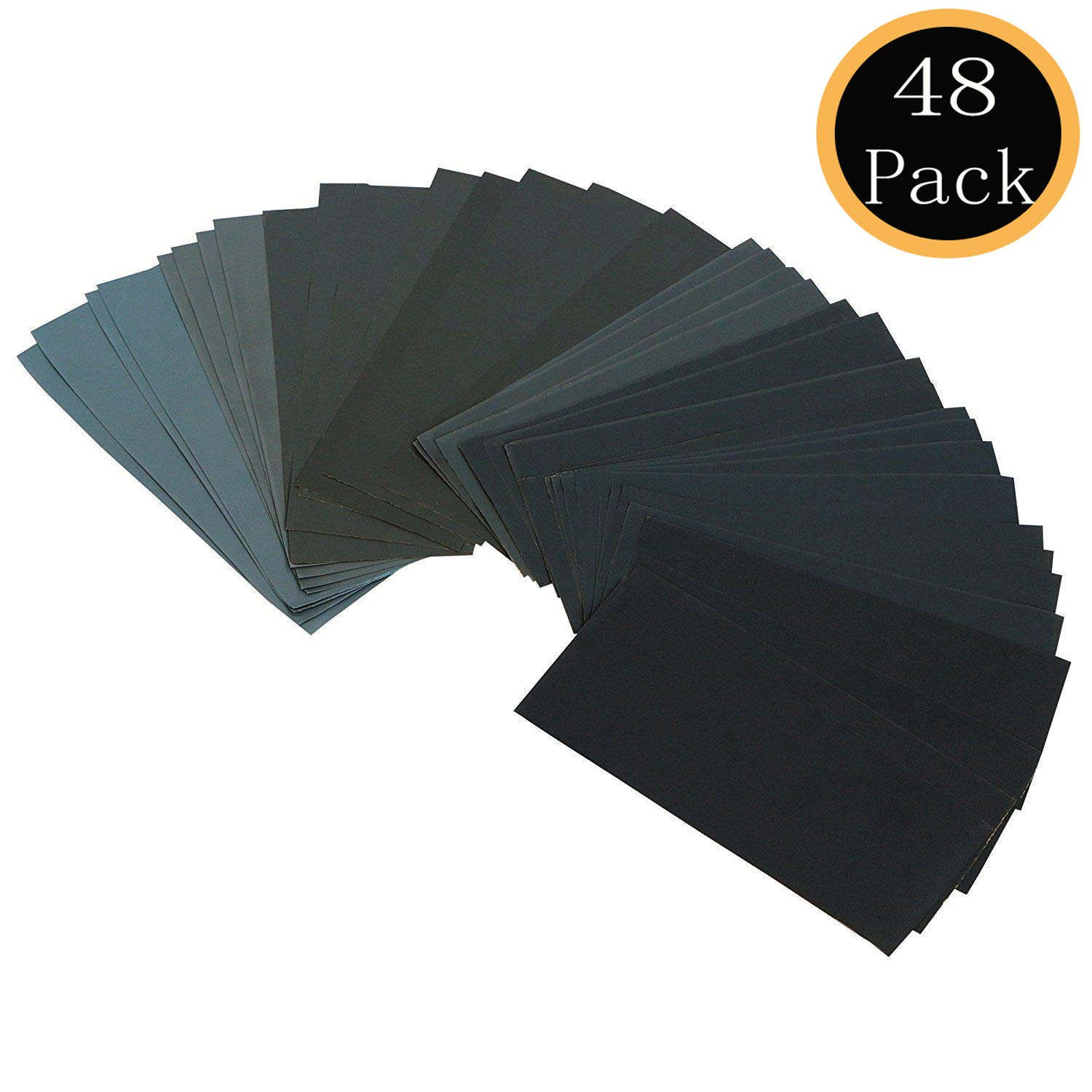 48-Pack Sandpaper Assortment Block}