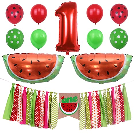 2bae2f2df ONINIT Watermelon Baby Boy Girls 1st Birthday Party Decorations,One in Melon  Best for Summer