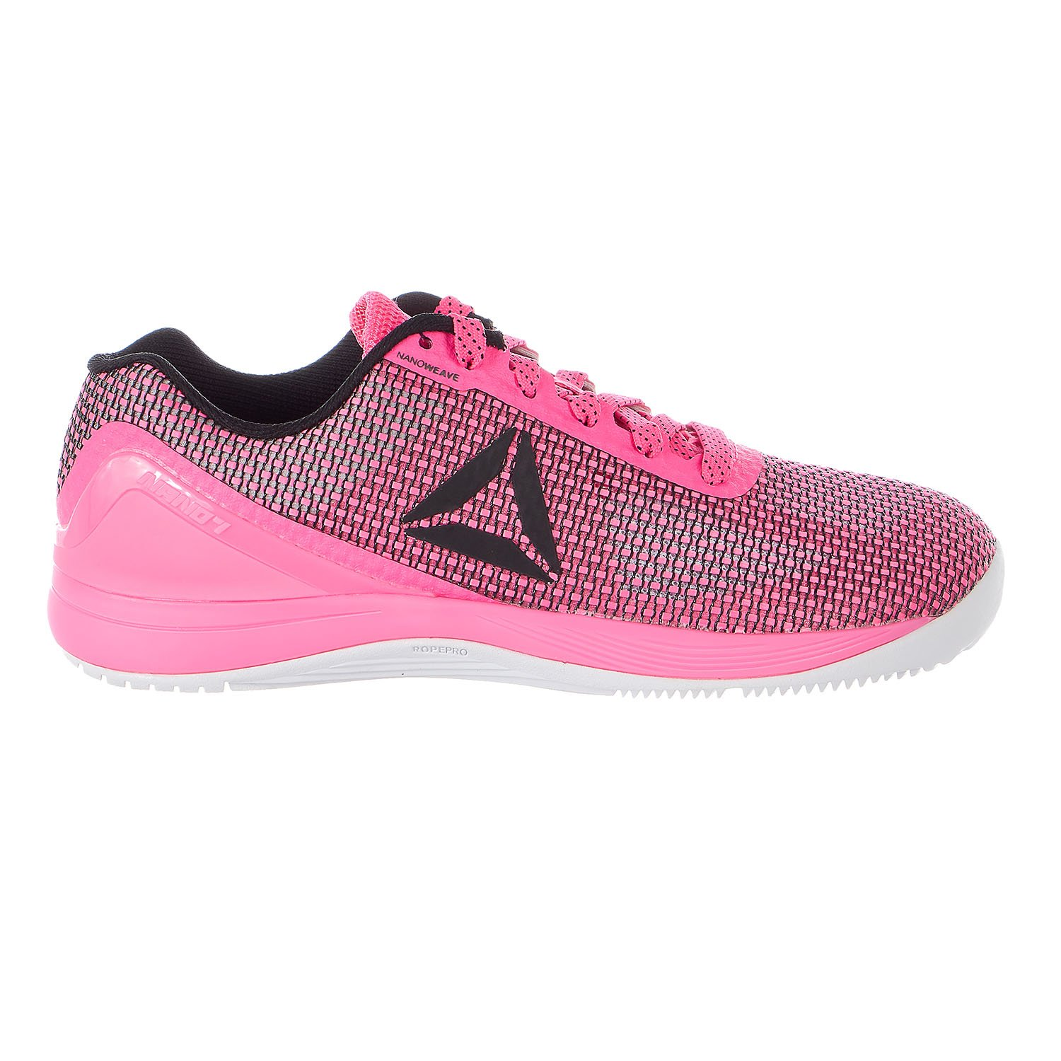 Reebok Women's R Crossfit Nano 7.0 Sneaker, Women's Poison Pink/Black/White, 7.5 M US