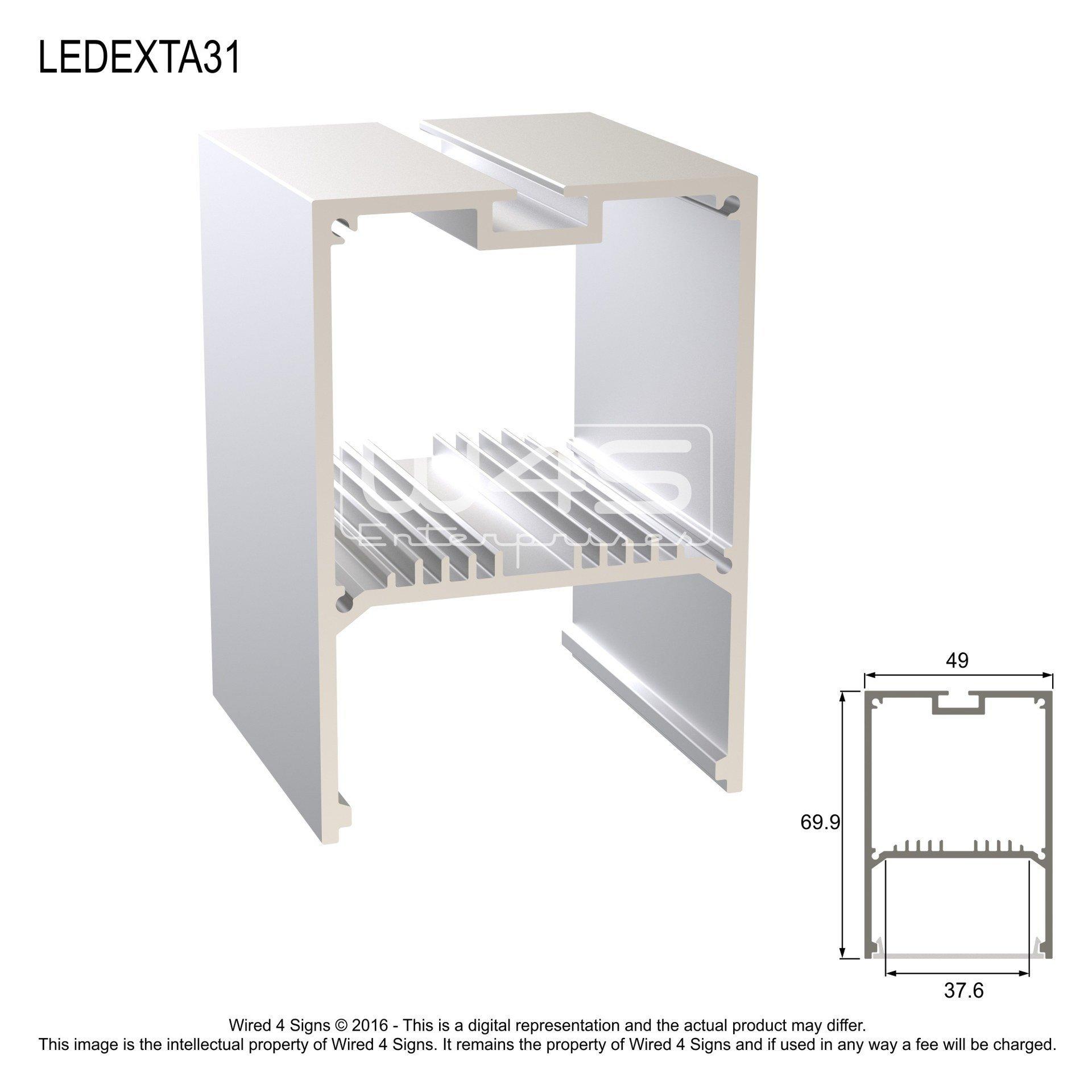 Rectangular LED Linear Pendant- Model A31 [Profile Only]
