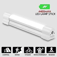 Fogeek - Luz LED portátil para acampada, magnética, recargable, luz de emergencia, con sos, para senderismo