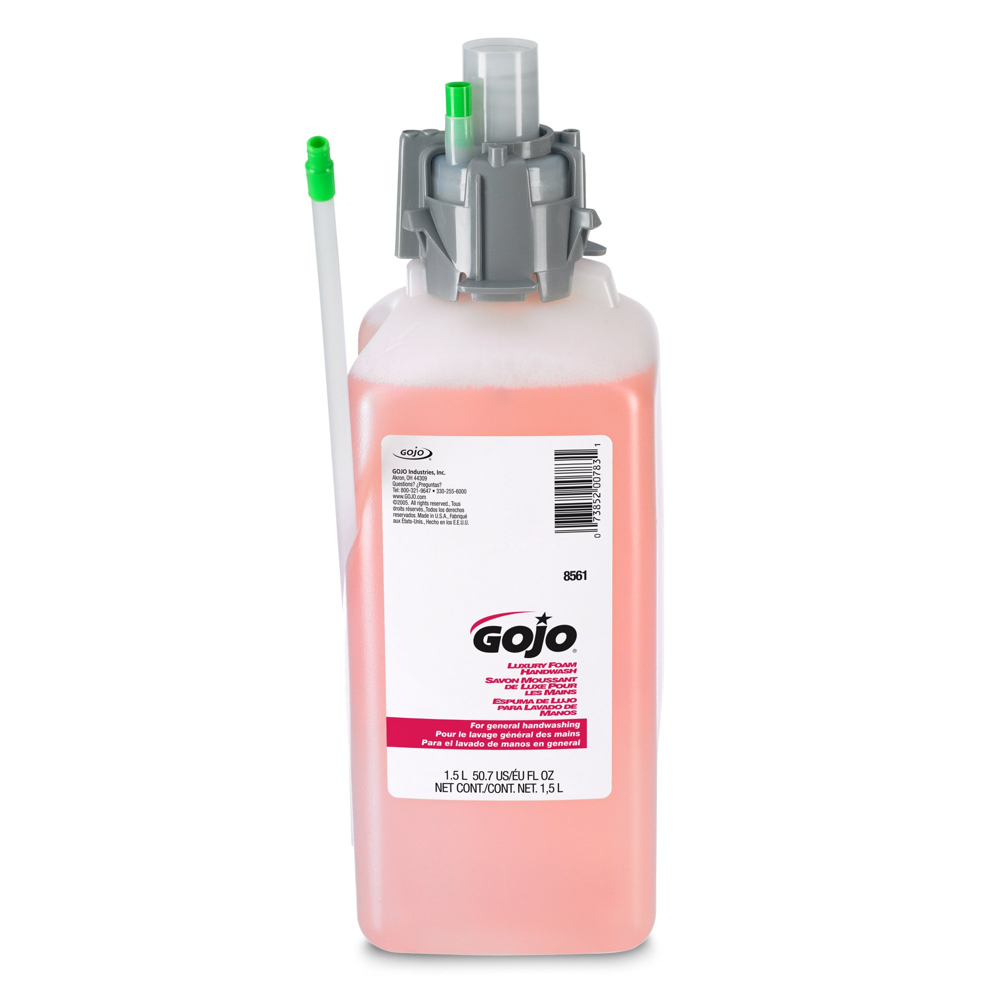 GOJO 856102CT CX & CXI Luxury Foam Hand Wash, Cranberry Liquid, 1500mL Refill (Pack of 2),Compatible with Dispenser #8520-01, 8500-01, 8530-01