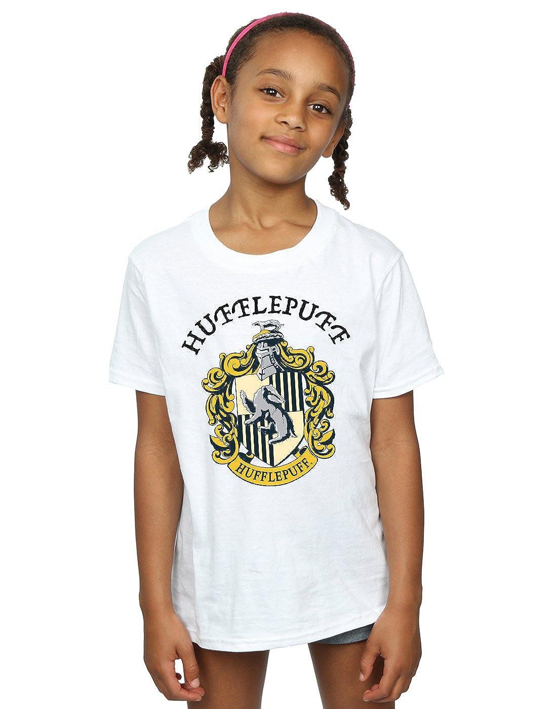 Harry Potter Girls Hufflepuff Crest T-Shirt Absolute Cult