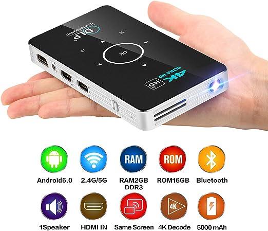 Instan Mini proyector 4K HD Proyector Inteligente C6 Eye ...