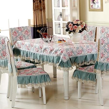 paño]/ mantel de jardín/Juego de sillas de comedor cojín/mantel/Cojín/ mantel/Set de cubre sillas manteles-A 130x180cm(51x71inch): Amazon.es: Hogar