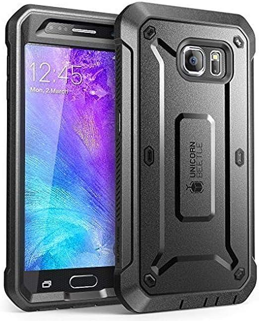 Supcase Samsung Galaxy S6 Hülle 360 Grad Handyhülle Bumper Case Rugged Schutzhülle Cover Unicorn Beetle Pro Mit Integrierter Displayschutz Schwarz Elektronik