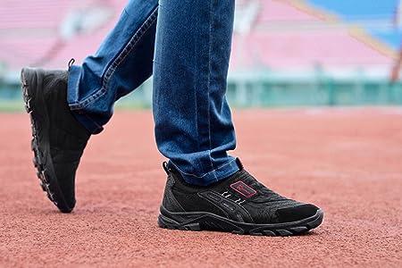 537187117a28 Men Slip On Sneaker - Outdoor Hiking Shoe Sport Trail Running Shoes Casual  Trekking Shoes