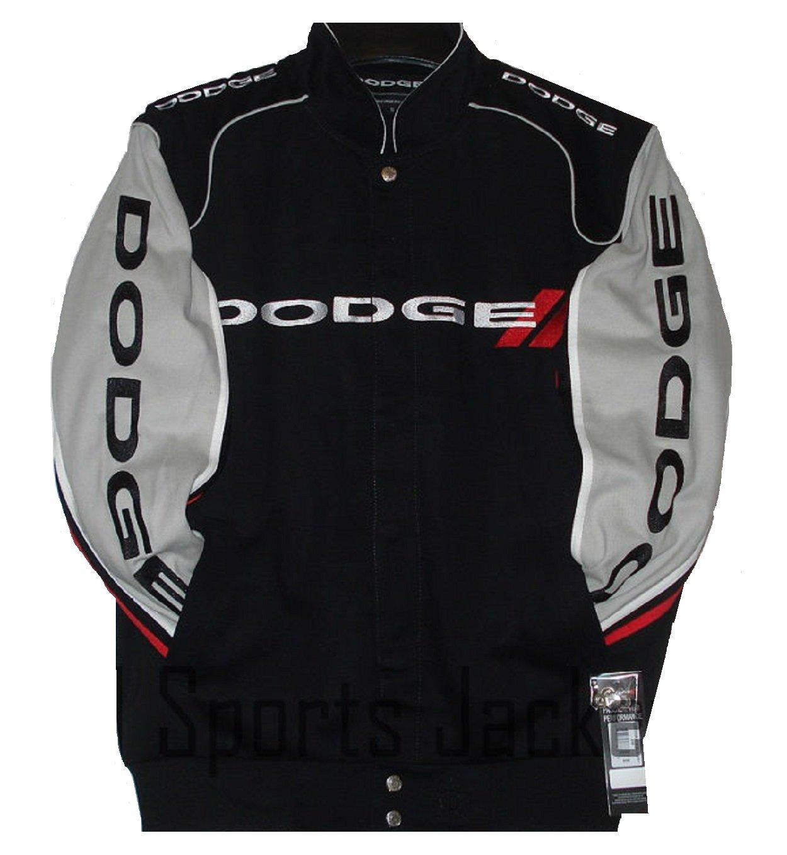 Authentic Dodge Racing Embroidered Cotton Jacket Black Size XXLarge