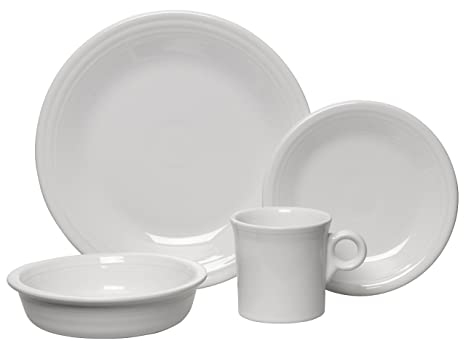 Fiesta 4-Piece Place Setting White  sc 1 st  Amazon.com & Amazon.com | Fiesta 4-Piece Place Setting White: Dinnerware Sets ...
