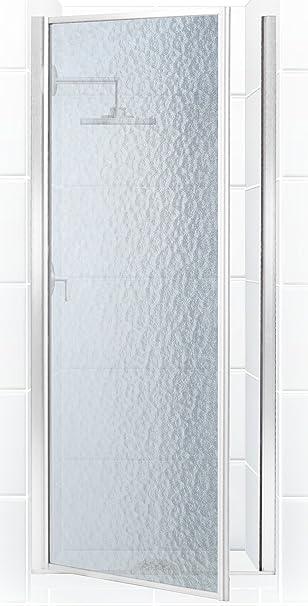 Leyenda serie 31 – 1/4 in. a 32 – 3/4 in. x 68 en. Con bisagra para mampara de ducha en cromo con cristal oscuro: Amazon.es: Bricolaje y herramientas