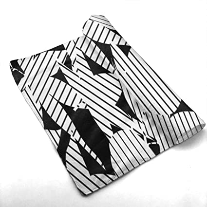 Amazoncom Klasl5 Black And White Stripes Bath Towels For Bathroom