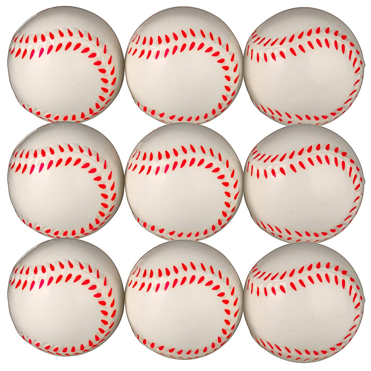 Baseball Sports Themed 2.5-Inch Foam Squeeze Balls for Stress Relief, Relaxable Realistic Baseball Sport Balls - Bulk 1 Dozen by Neliblu (Image #6)