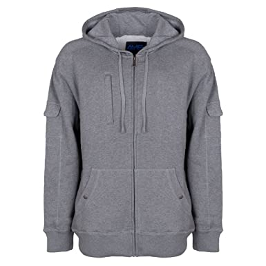 AyeGear H13 Hoodie with 13 Pockets, iPad or Tablet Pocket, Fleece, Grey S