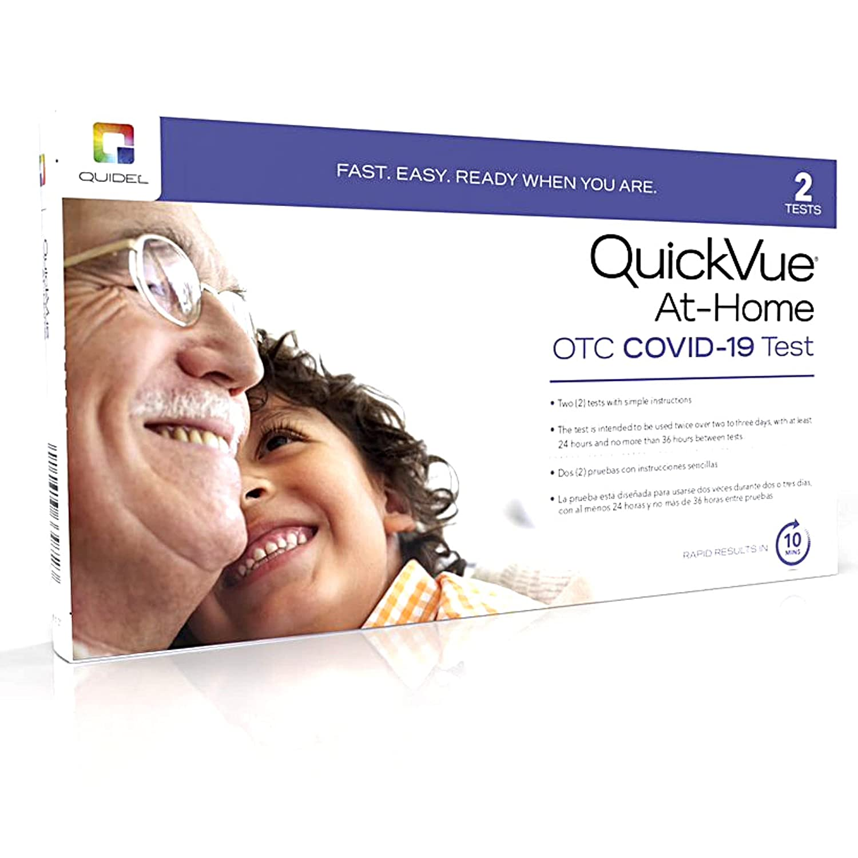 Quidel Rapid Test Kit at-Home COVID-19 Test Nasal Swab 2 Tests Per Box